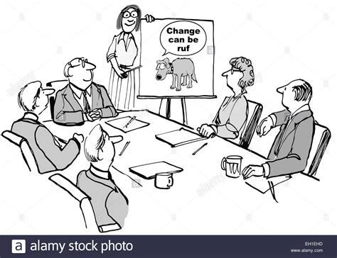 cartoon change seminar business meeting stockfotos und