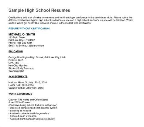 job resume  fresh graduate high school