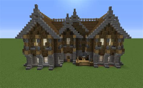 storey medieval inn grabcraft  number  source  minecraft buildings blueprints