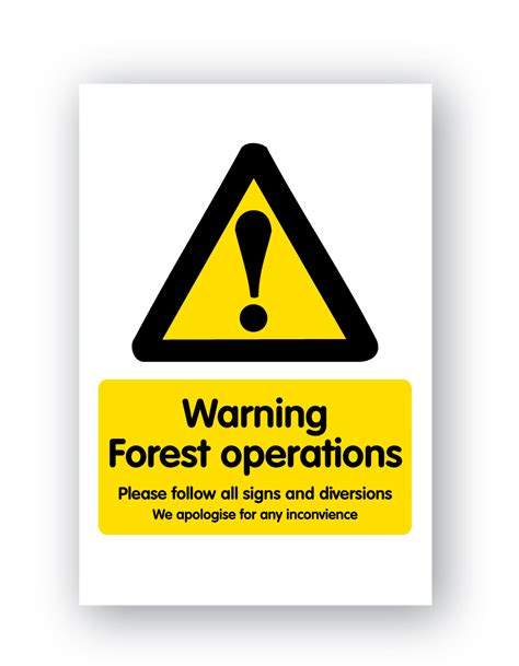 warning forest operationssign