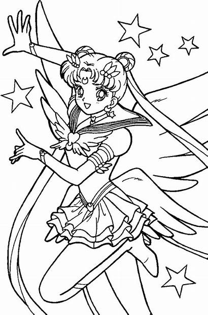 Sailor Moon Coloring Pages Printable Sailormoon Disney