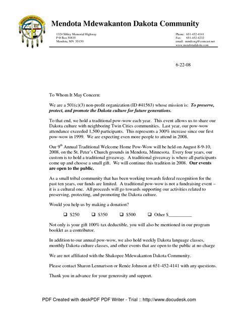 donation  profit request sample letters chainimage