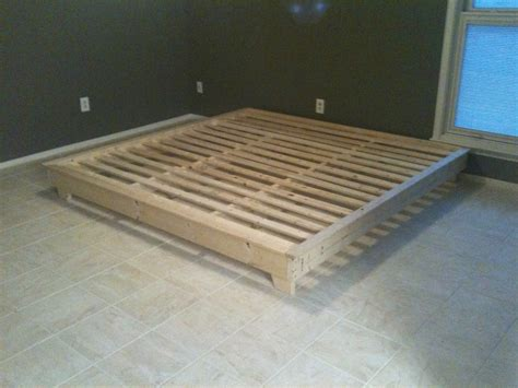 How To Build A Platform Bed by White King Sized Hailey Platform Bed Diy Projects