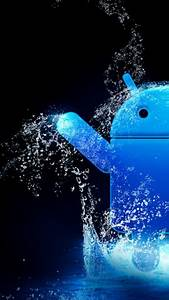 Blue Water Android Logo Android Wallpaper free download