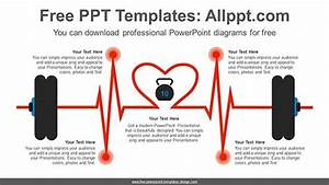 Barbell Heart Beat Powerpoint Diagram For Free