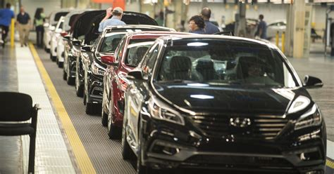 Hyundai Of Montgomery by At Hyundai Plant Cars Pile Up After Distribution Issues