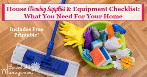 house cleaning supplies equipment checklist what you