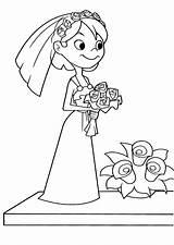Coloring Most Bride sketch template