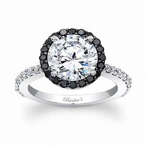 Barkev39s black diamond halo engagement ring 7839lbk barkev39s for Black wedding rings with diamonds