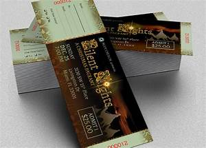 Free Event Tickets Template Silent Night Christmas Ticket Template Inspiks Market