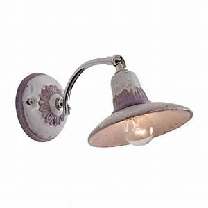 Wandlampe Mit Schalter : einstellbare wandlampe fiesole in keramik und messing mit zugschalter ~ Watch28wear.com Haus und Dekorationen