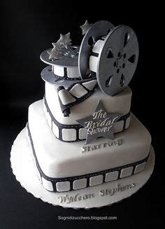 film reel cake  edible images  birthday cake