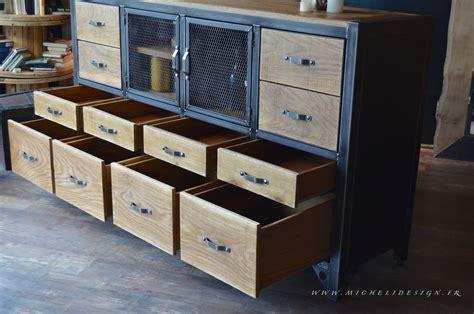 meuble de cuisine industriel buffet industriel cagne chic micheli design