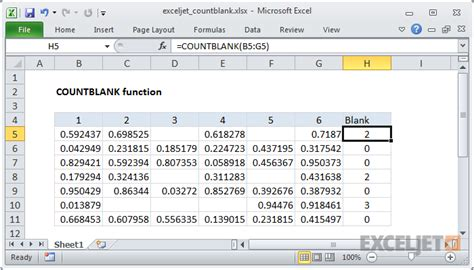how to use the excel countblank function exceljet