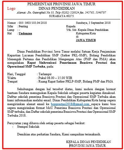 contoh surat undangan  resmi  tidak resmi file