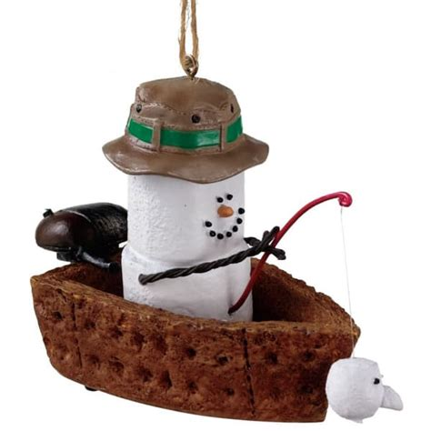 s mores in fishing boat christmas ornament
