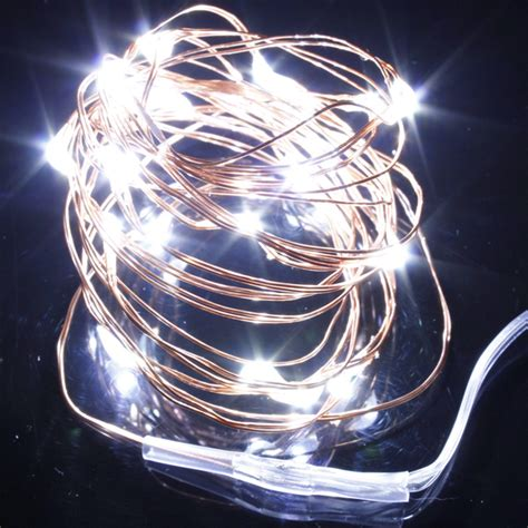pure white fairy lights 2m 3m 10m led copper wire led string fairy lights l