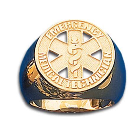 emt kt gold badge ring crm  joy jewelers