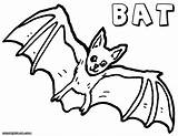 Bat Coloring Pages Animal Colorings sketch template