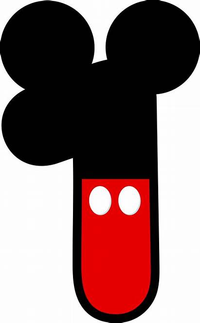 Mickey Mouse Minnie Clipart Birthday Number Head