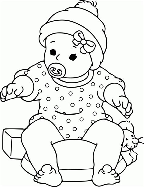 Baby Animal Christmas Coloring Pages - Coloring Home
