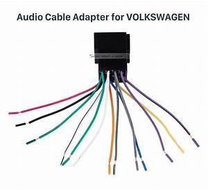 Car Wiring Harness Plug Adapter Audio Sound Cable For Volkswagen Polo  Passat  Jetta  Bora  Santana
