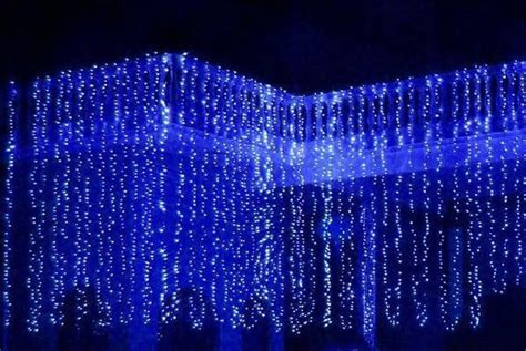 blue led curtain light china mainland other outdoor lighting