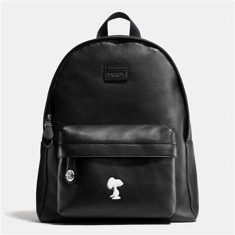 lyst coach  peanuts small campus backpack  leather