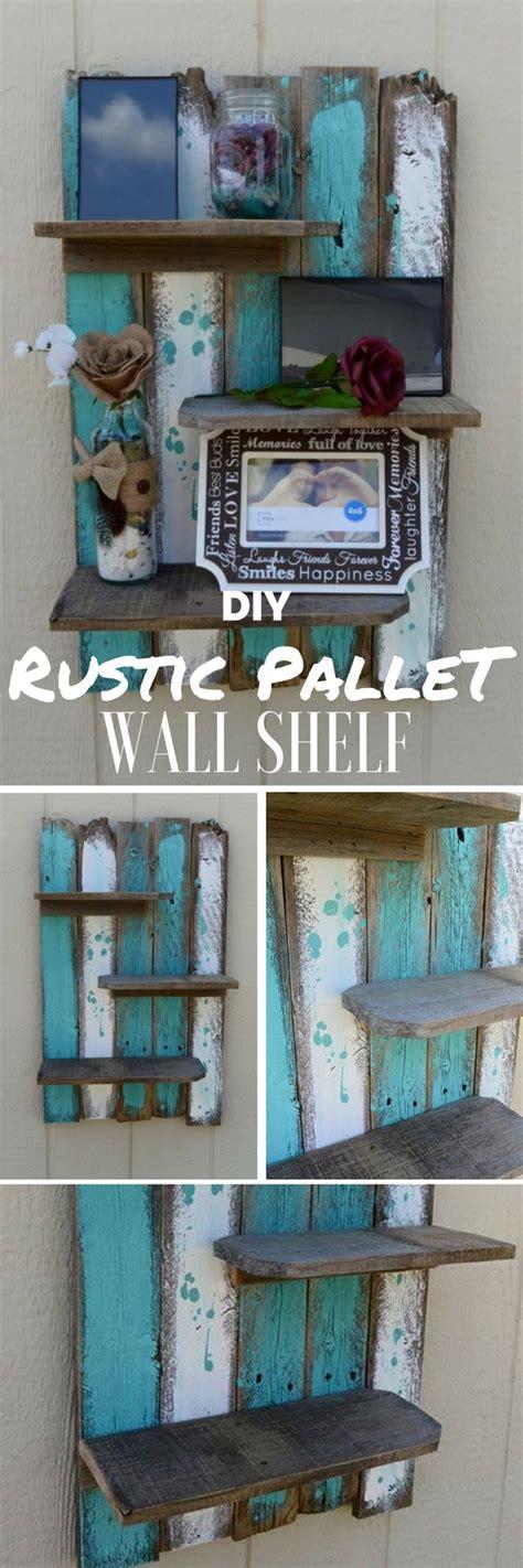 diy home decor with pallets diy rustic pallet wall shelf Diy Home Decor With Pallets