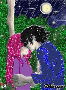kiss in the rain Picture #129406916 | Blingee.com