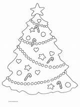Coloring Christmas Pages Tree Decorations Star Colouring Trees Printable Adults Clipart Clipartqueen Discover sketch template
