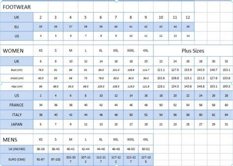 Sūtam Kopā - Izmēru tabulas