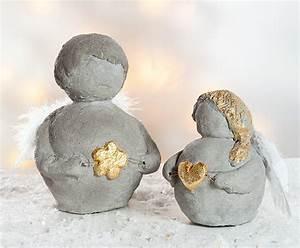 Basteln Mit Zement : bastelanleitung weihnachtsengel aus knetbeton buttinette bastelshop ~ Frokenaadalensverden.com Haus und Dekorationen