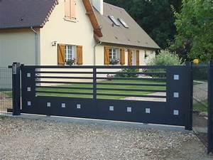 Portail Coulissant En Pente : portail cloture aluminium coulissant portail alu sfrcegetel ~ Premium-room.com Idées de Décoration