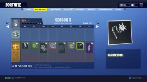 fortnite   season  battle pass items  battle royale