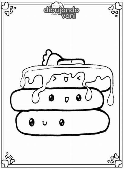 Imprimir Pancakes Dibujos Compartiendo Visitarnos Ayuda Estos