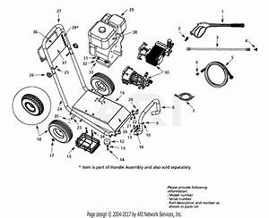 Troy Bilt 41058 Pressure Washer Parts Diagram For General