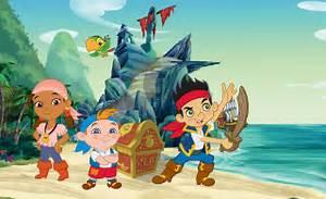 Disney Jake pirate character wallpaper for boys & girls room