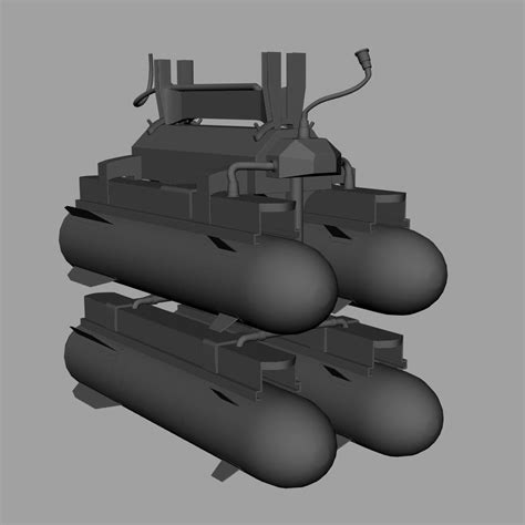 Hellfire Missiles With Army Textures 3d Model Obj Fbx Ma