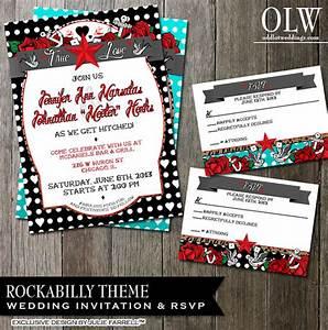 rockabilly wedding invitation polka dot stationery With rockabilly wedding invitations free