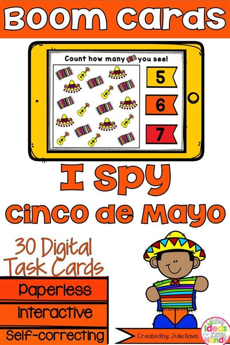 cinco de mayo counting digital game boom cards distance