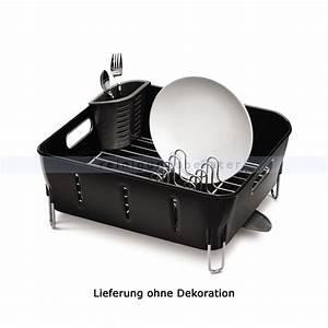 Geschirr Abtropfgestell Kunststoff : simplehuman abtropfgestell schwarzer kunststoff kt1105 ~ Michelbontemps.com Haus und Dekorationen