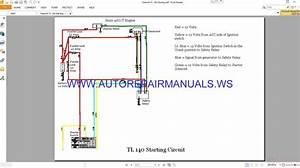 Takeuchi Isuzu 4jg1t Engine Tl 140 Starting Circuit Wiring