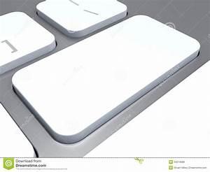 Blank Keyboard Key Shows White Empty Copyspace Keypad ...