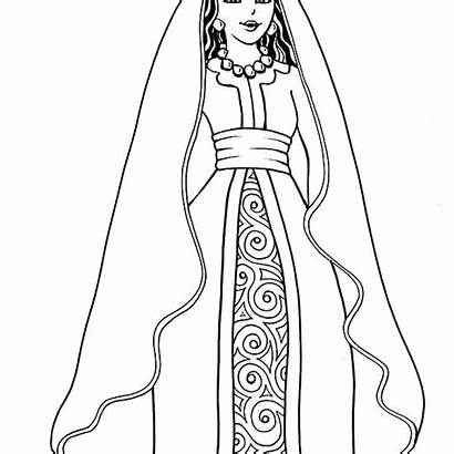 Esther Coloring Pages Queen Persia Bible Printable