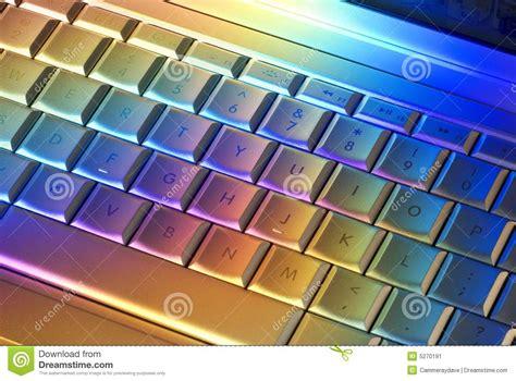 ordinateur de bureau prix clavier d 39 ordinateur coloré image stock image 5270191