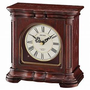 Seiko, Traditional, Musical, Desk, Table, Clock, -, 7, 55, In, Wide