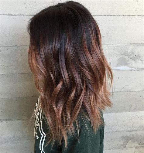 Black And Brown Hair Ideas by Black Hair With Brown Highlights Brown Hair Color