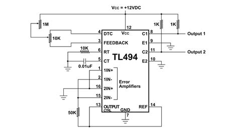 Tl494 Inverter Circuit by Tl494 Pulse Width Modulation Circuit