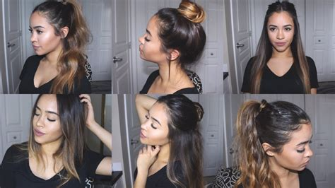 easy cute hairstyles for school under 5 minutes maria
